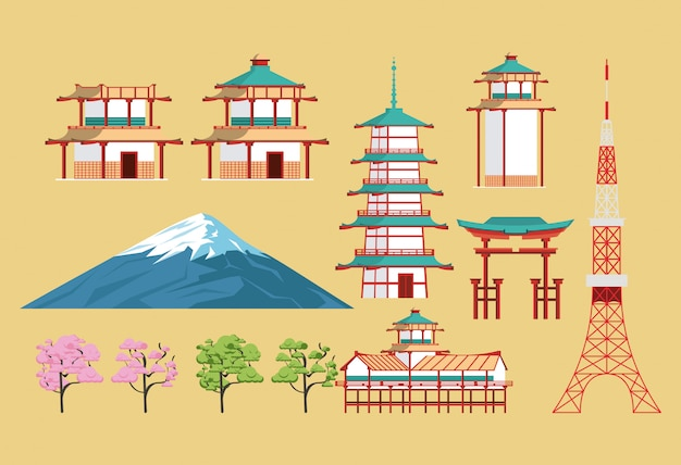Japanische architektur und elemente