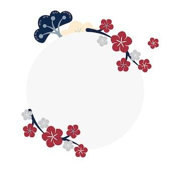 Japanische blumen rahmen