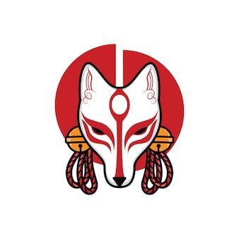 Japanische kitsune-maske