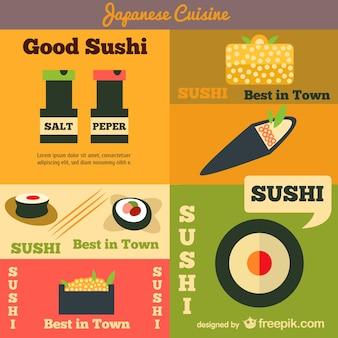Japanische küche vektor werbung