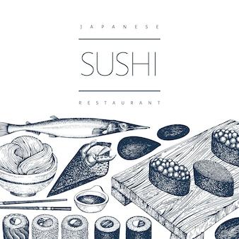 Japanische küche vorlage