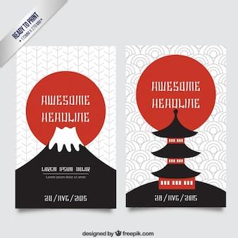 Japanische kultur-broschüre