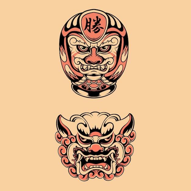 Japanische maske