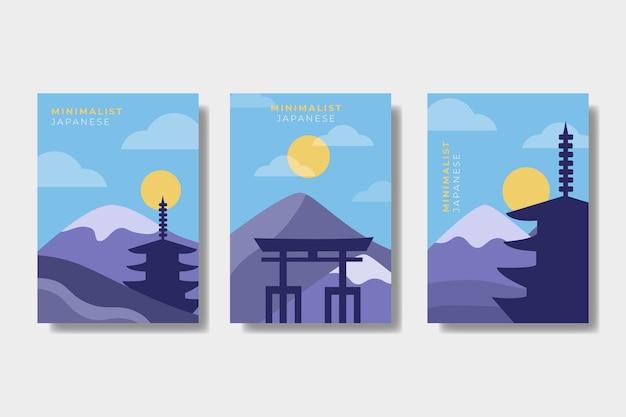 Japanische minimalistische cover-kollektion