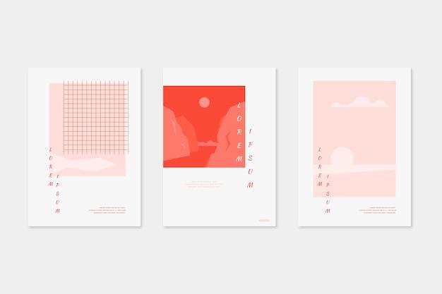 Japanische minimalistische coversammlung