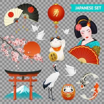 Japanische nationale symbole gesetzt