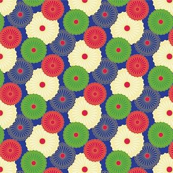 Japanische pattern mit blumen