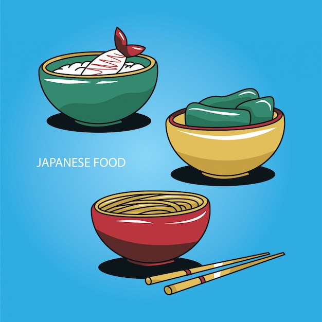 Japanische ramen-suppe