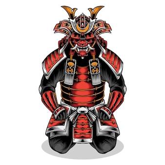 Japanische samurai volle rüstung