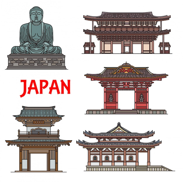 Japanische tempel, pagoden kamakura architektur