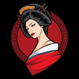 Japanischer geisha-charakter