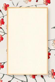 Japanischer kirschblütenrahmen orientalisch