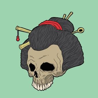 Japanischer schädel
