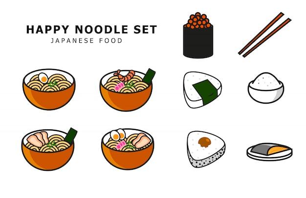 Japanisches essen festgelegt
