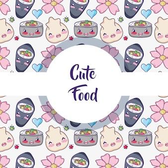 Japanisches essen hintergrundmuster