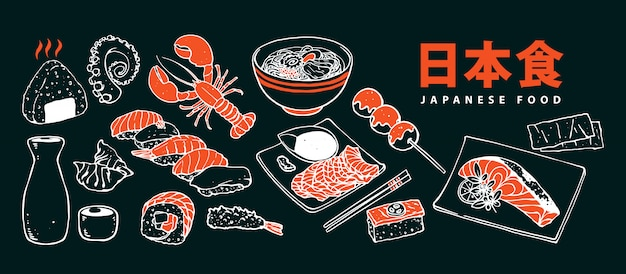 Japanisches essen menü