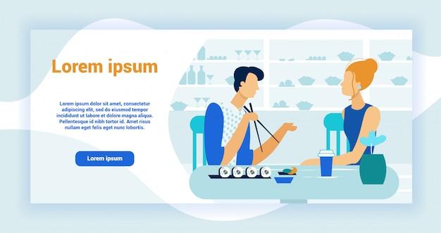 Japanisches essen restaurant landing page template