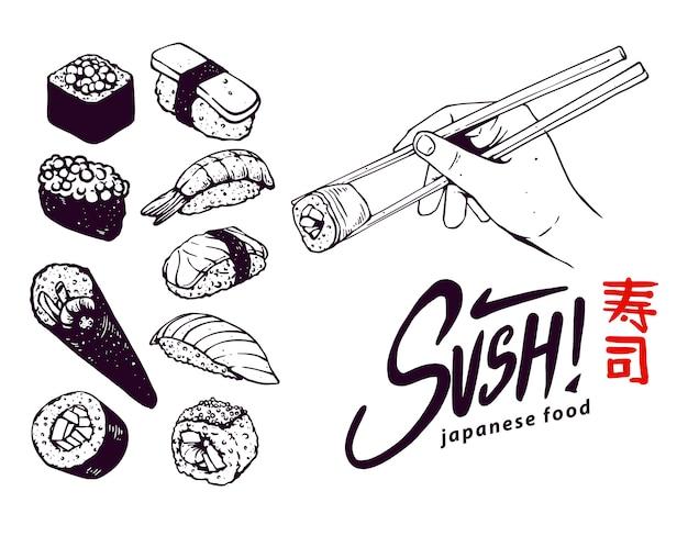 Japanisches essen (sushi)