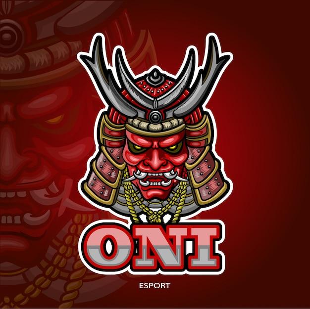 Japanisches maskottchen-esport-logo