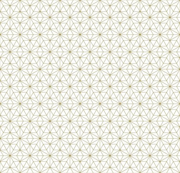Japanisches nahtloses kumiko-muster in braunen feinen linien.