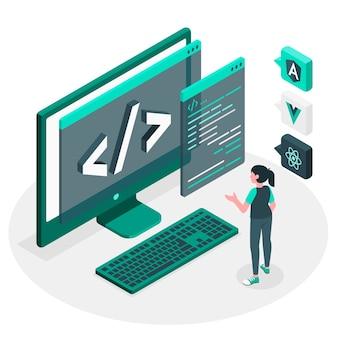 Javascript-rahmenkonzeptillustration