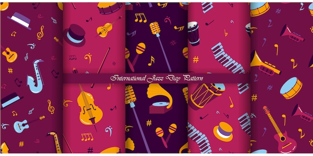 Jazz day pattern collection