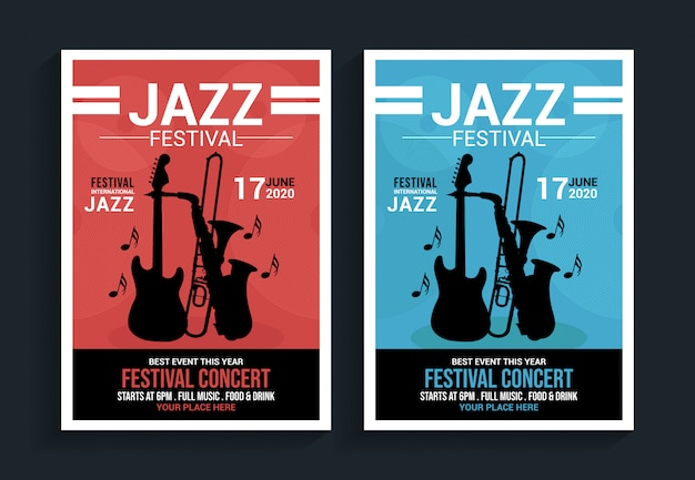 Jazz festival flyer vorlage