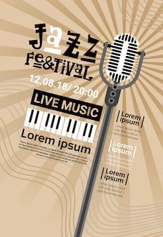 Jazz festival live musik konzert plakat werbung retro banner