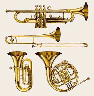 Jazz klassische blasinstrumente eingestellt