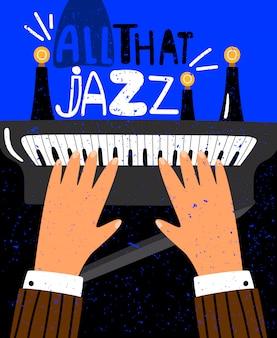 Jazz-konzept illustration
