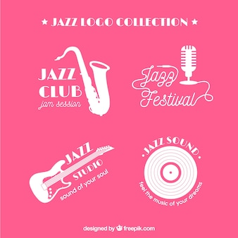 Jazz-logo-kollektion mit flachem design