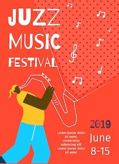 Jazz music festival plakat vorlage