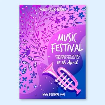 Jazz musik poster vorlage