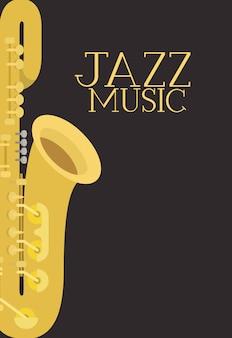 Jazz-tagsplakat mit saxophon