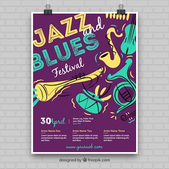 Jazz- und blues-poster