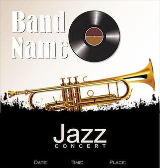 Jazzkonzerthintergrund