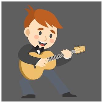 Jazzmusiker, gitarre
