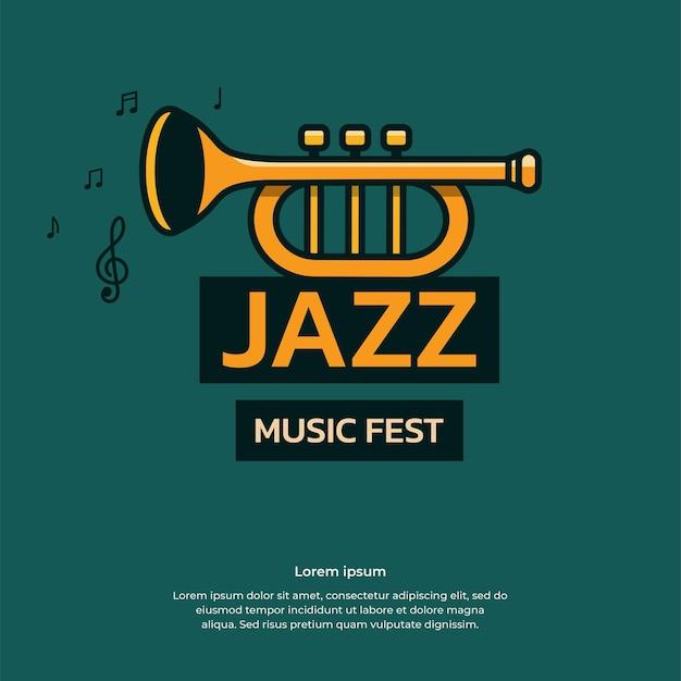 Jazzmusikfestvektor-designillustration für fahne