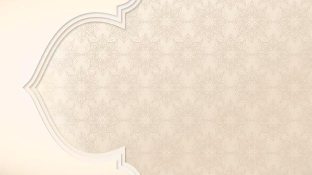 Jdsarabesque-muster in einer beigen bordüre