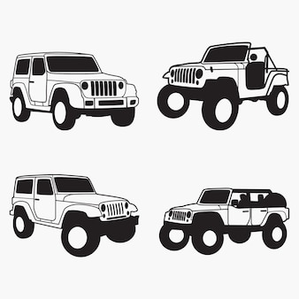 Jeep-silhouetten-silhouetten