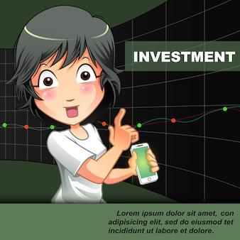 Jemand lädt sie ein, auf charthintergrund zu investieren.
