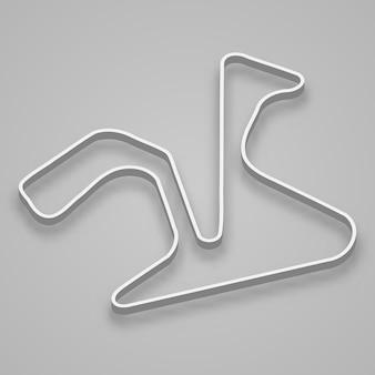 Jerez circuit für motorsport und autosport. spanien grand prix rennstrecke.