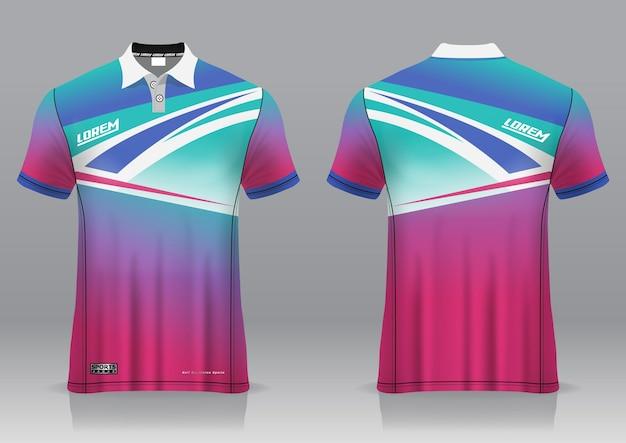 Jersey golf, vorder- und rückansicht, sportliches design