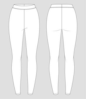 Jersey leggings. sportbekleidung für frauen. activewear-hosen.