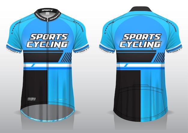 Jersey-radfahren, vorder- und rückansicht, sportliches design und druckfertig auf stoff und texlite