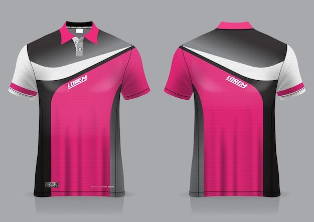 Jersey sport badminton, fußball, läufer, für einheitliche vorder- und rückansicht vorlage