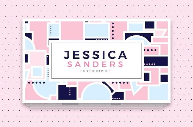 Jessica sanders bussiness-karten-schablone