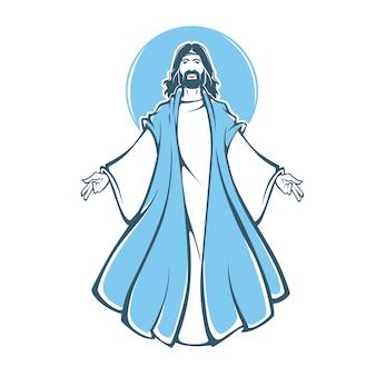 Jesus christus auferstehung, illustration für ihren osterentwurf