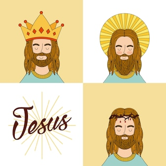 Jesus christus symbol. farbenfrohes design