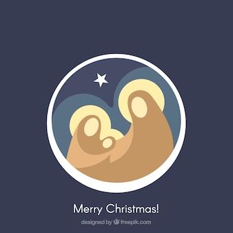 Jesus Geburt Hintergrund in modernem Design